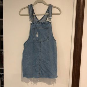 Pull and Bear Denim Overall Dress
